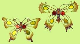 Wanddeko Schmetterling Metall/Glas 2er-Set 22 cm (921440) - Bild vergrößern