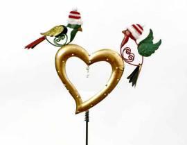 Gartenstecker Herz mit 2 Vögeln (962440) - Bild vergrößern