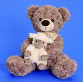 Teddybär Plüschbär mit Schäfchen 32 cm (4238-I) - Bild vergrößern