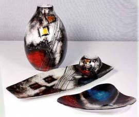 Teller Glas Deko Schale Kassiopeia 43 cm lang (S550003) - Bild vergrößern