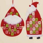 Adventskalender Weihnachtsmann Filz 94 cm rot (751170)