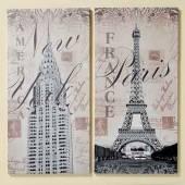 Bild Glitter City New York Paris Kunstdruck auf Keilrahmen (554410)