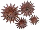 Wanddeko Blüte natur in 4 Größen