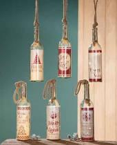 Flasche mit LED Beleuchtung und Spruch Flaschenpost Weihnachten (G21725)