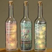 Flasche mit LED Beleuchtung und Spruch Sport/Gewicht witzig (834150)
