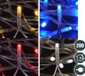 LED Lichterkette 200 LED 20 Meter 4 Farben (76082)