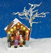 Weihnachts Marktstand beleuchtet (15448w)