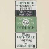 Schild Alkohol mit witzigem Spruch 40x30 cm (713660)