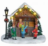 Weihnachts Marktstand Bäckerei beleuchtet (15939w)