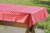 Tischdecke rot-weiß 130 x 170 cm (274240)