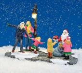 Winterszene mit Nikolaus beleuchtet (55630w)