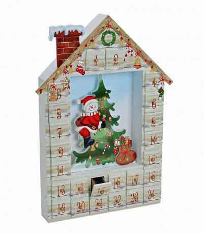 adventskalender haus holz 21564w nur eur. Black Bedroom Furniture Sets. Home Design Ideas