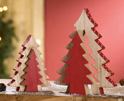 Tanne baum puzzlebaum 2 tlg zum stellen 23 5 cm holz for Weihnachtsdeko baum