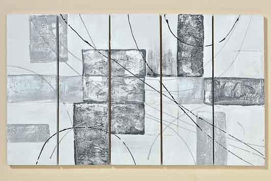 bild artwork 5 teilig 100 cm 554700 wanddeko deko. Black Bedroom Furniture Sets. Home Design Ideas