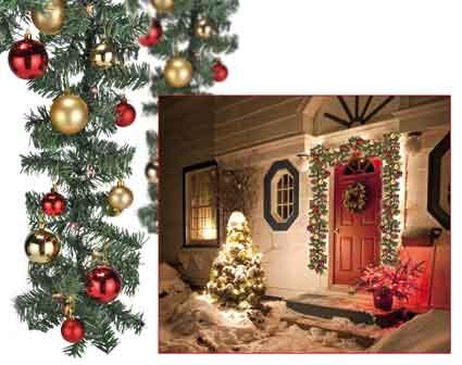 weihnachtsgirlande mit led beleuchtung und deko nur eur. Black Bedroom Furniture Sets. Home Design Ideas