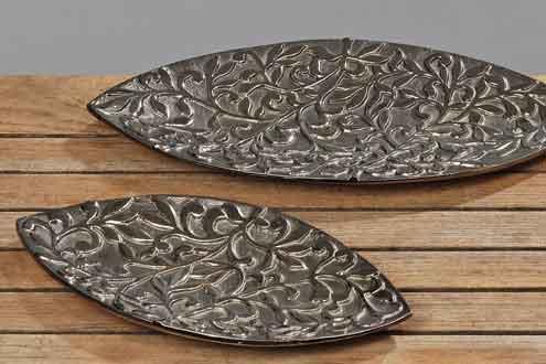 Schale Dekoschale Deko Silbern Silberschale Aluminiumschale