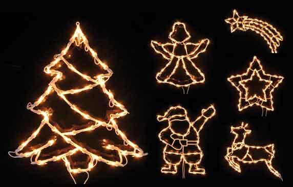 Fenster silhouette fensterbild beleuchtet 50 lichter - Fensterdeko weihnachten beleuchtet ...