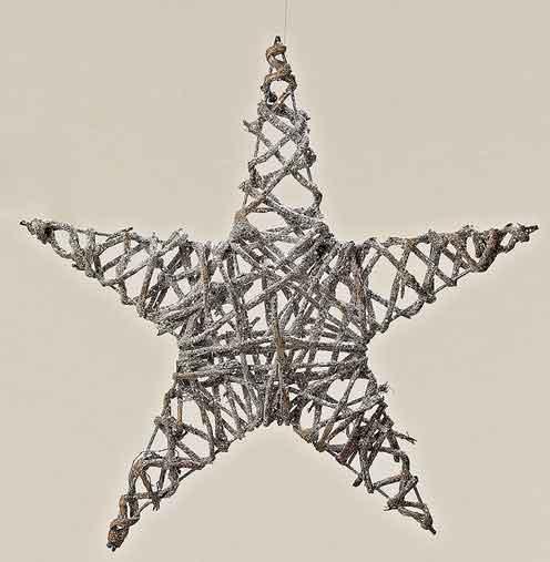 stern weide silber zum h ngen 40 cm 484490 neu weihnachtsdeko weihnachtsstern ebay. Black Bedroom Furniture Sets. Home Design Ideas