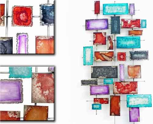 wanddeko shanny aus metall 137 cm 923169 wandobjekt wandbild wandschmuck ebay. Black Bedroom Furniture Sets. Home Design Ideas