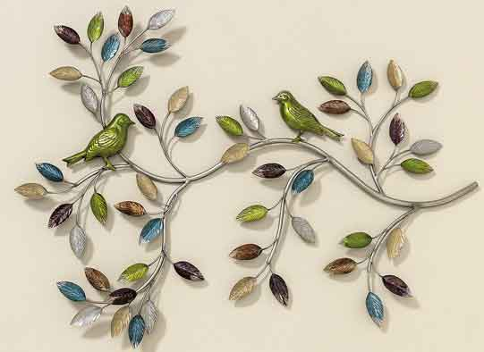 wanddeko vogel toledo metall farbig 75 cm 384700 wandobjekt wandbild ebay. Black Bedroom Furniture Sets. Home Design Ideas