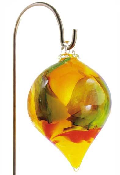 Gartenstecker glas zwiebel h ngend 20 cm mit stab 10801 for Gartendeko glas stecker