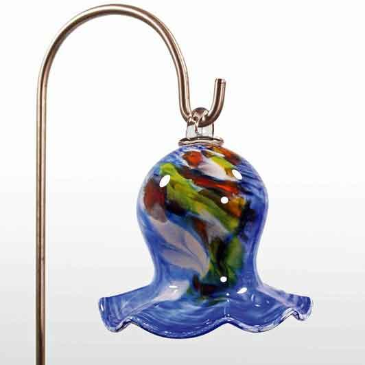 Glas Maiglöckchen 15 cm hängend mit Stab mundgeblasen (12902)