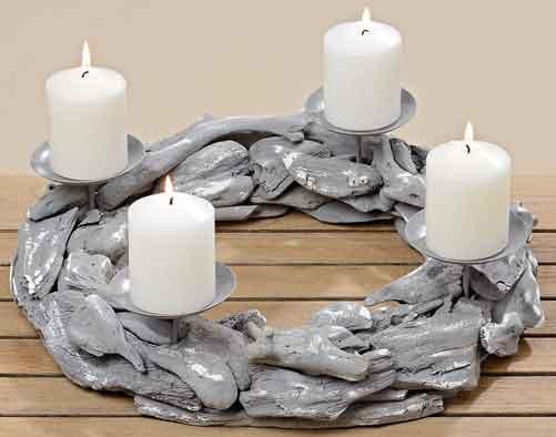 adventskranz holz metall 40 cm 353240 nur eur. Black Bedroom Furniture Sets. Home Design Ideas