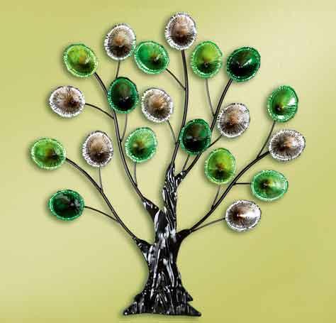 Wanddeko Baum Metall farbig 70 cm (G69677) nur 69.80 EUR