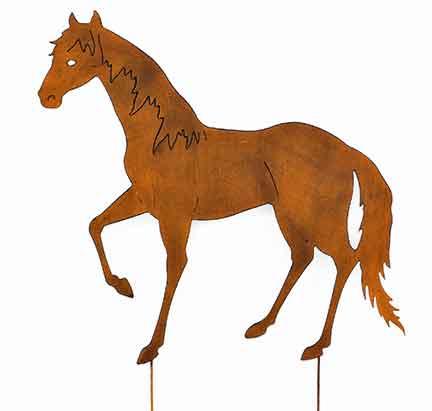 Gartenstecker Beetstecker Pferd braun Metall (922037)