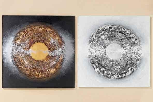 Bild Lania Leinwand auf Holzrahmen 100x100 cm (222000)
