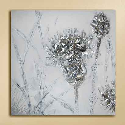 Gemälde FLOWERS handgemalt 100x100 cm (G38661)