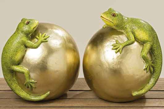 Eidechse Lizard auf Goldkugel (811180)