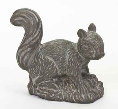 Eichhörnchen Keramik grau (V35754)
