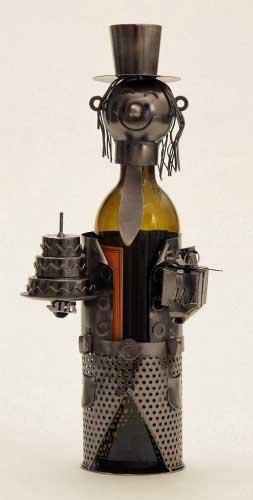 Flaschenhalter GEBURTSTAG, dekoratives Geschenk