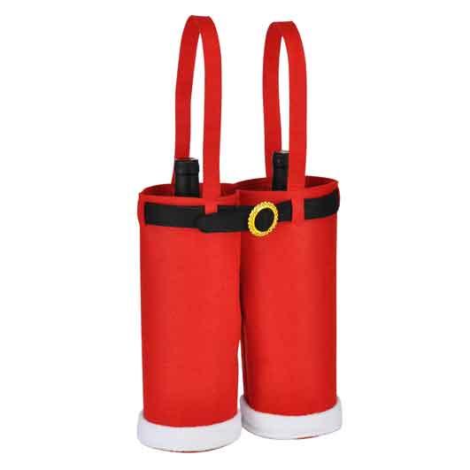 Flaschenhalter Flaschenträger Weihnachten Filz rot (54723)