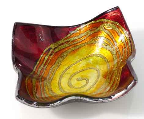 Teller Glas Deko Schale Mars rot (953311)