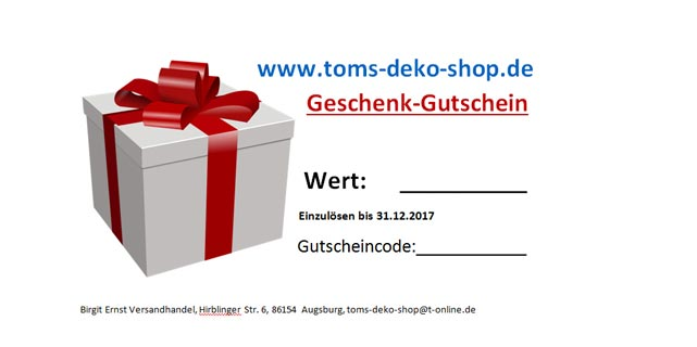 Geschenk-Gutschein 25,00 Euro
