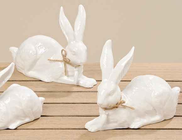 Hase Jori Porzellan weiß 2er-Set 16 cm liegend (361040)