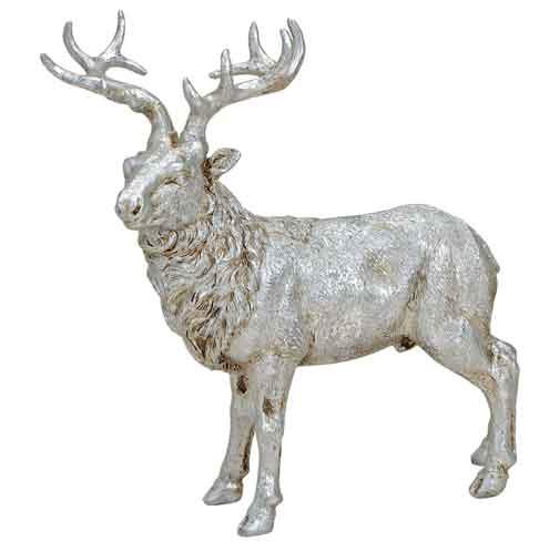 Hirsch stehend silber 23 cm (56482w)