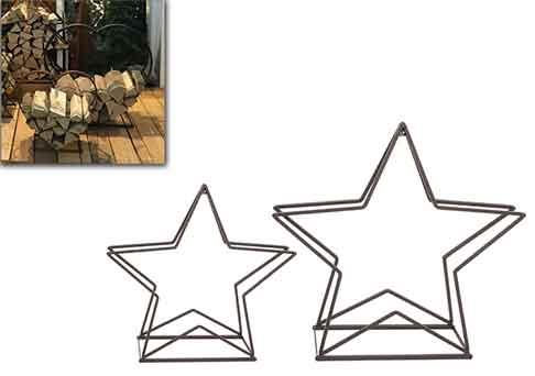 Regal Stern für Brennholz, Metall (960768)