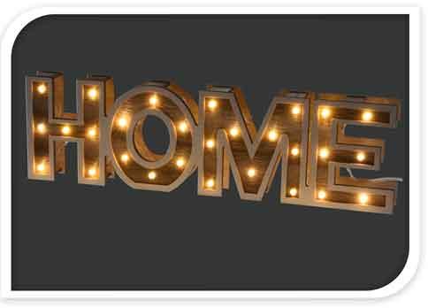 schriftzug home beleuchtet 38 cm ko201390 nur eur. Black Bedroom Furniture Sets. Home Design Ideas