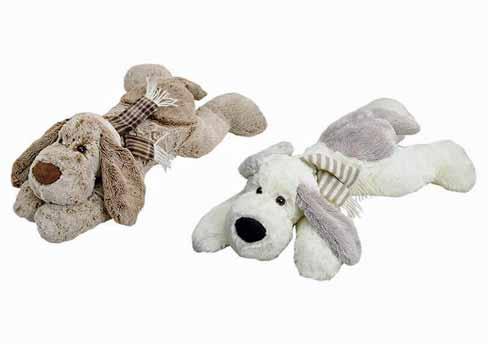 Hund liegend Plüsch weich 55 cm (24879w)