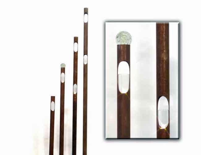 Windlicht Stab Metall Rost 95 cm (919354)