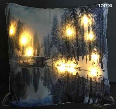 Kissen Fluss mit LED Beleuchtung (T174700)