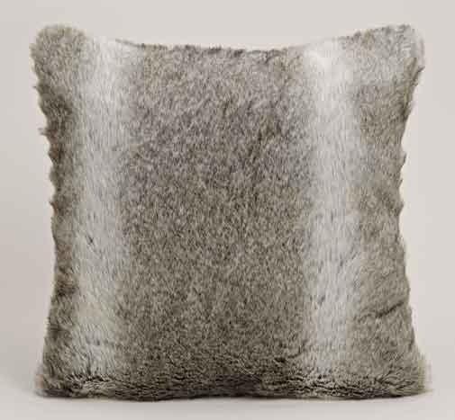 Kissen Kunstfell grau, edel 45x45 cm (21267w)