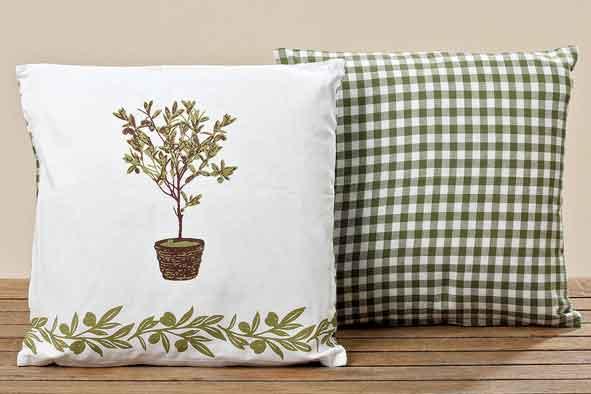Kissen Olive dunkelgrün 40 x 40 cm (239120)