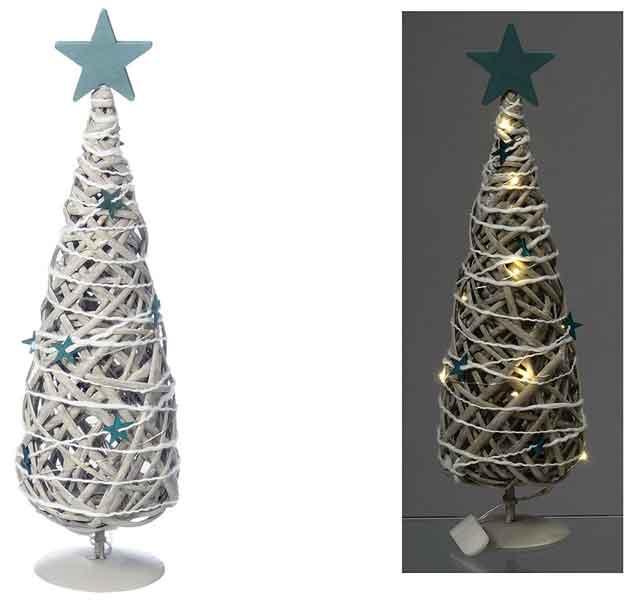 LED Baum zum Stellen Weide braun 43 cm (476210)
