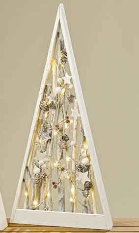 Baum Carry beleuchtet Holz 56 cm zum Stellen (832060)