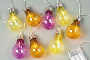 Lichterkette Glühbirnen LED bunt (387310)