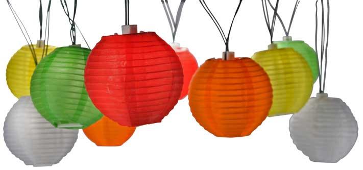 Lichterkette PARTY bunt 20 Lampions LED